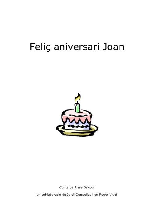 Feliç aniversari Joan