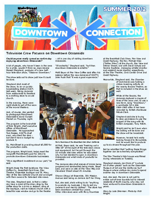 MainStreet Oceanside Newsletter Summer 2012
