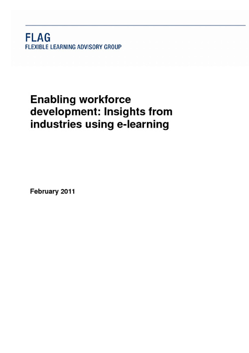 Enabling workforce development