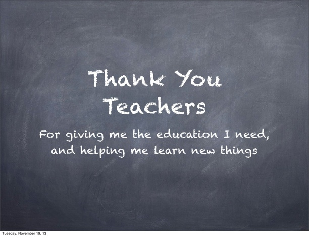 Thank You Teachers! Appreciation Project