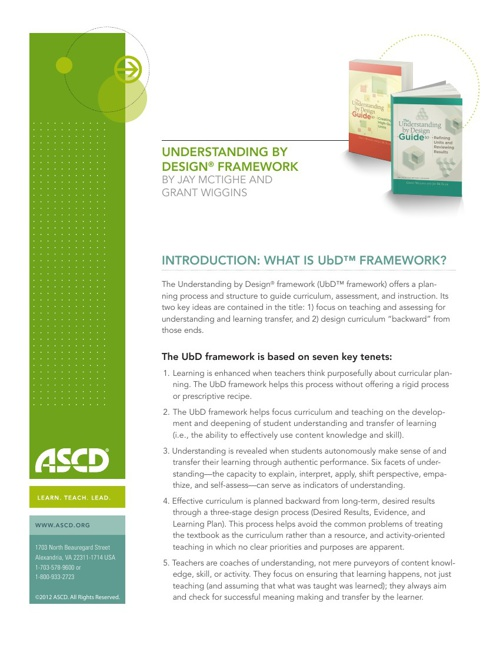 understanding by design white paper