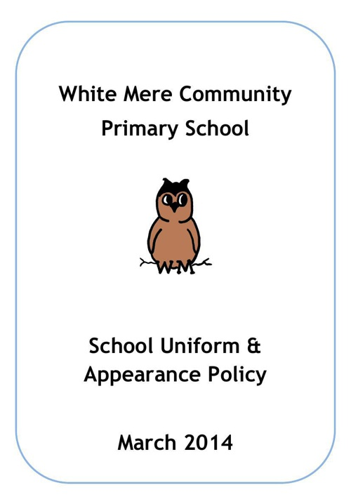 School Uniform and Apperance Policy 2014