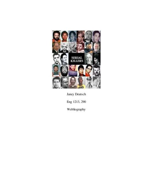 Psychology of Serial Killers