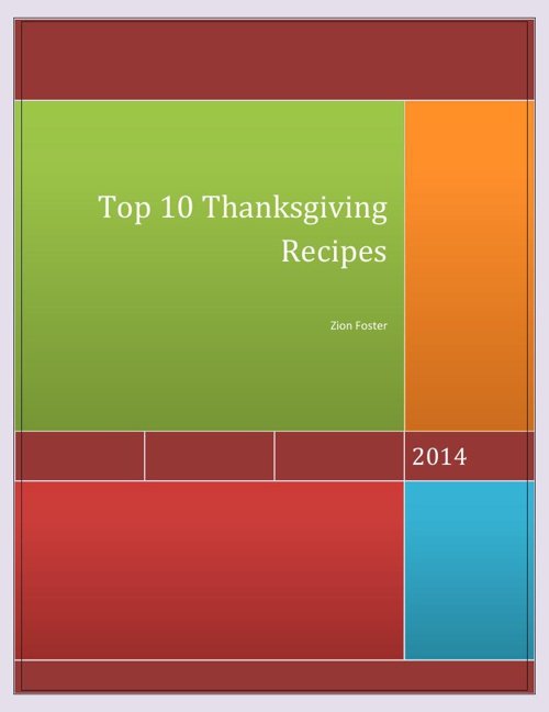 Top 10 recipes for Thanksgiving pdf