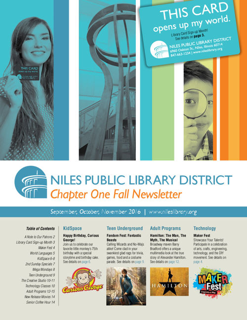 Chapter One Newsletter - Fall 2016
