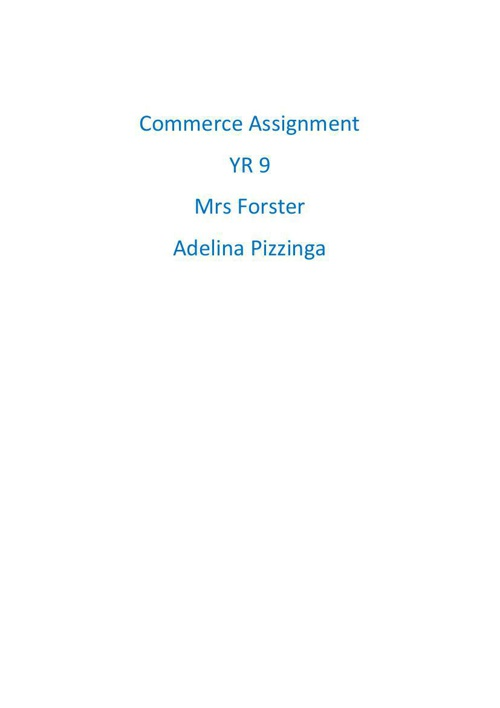 COMMERCE ASSIGNMENT