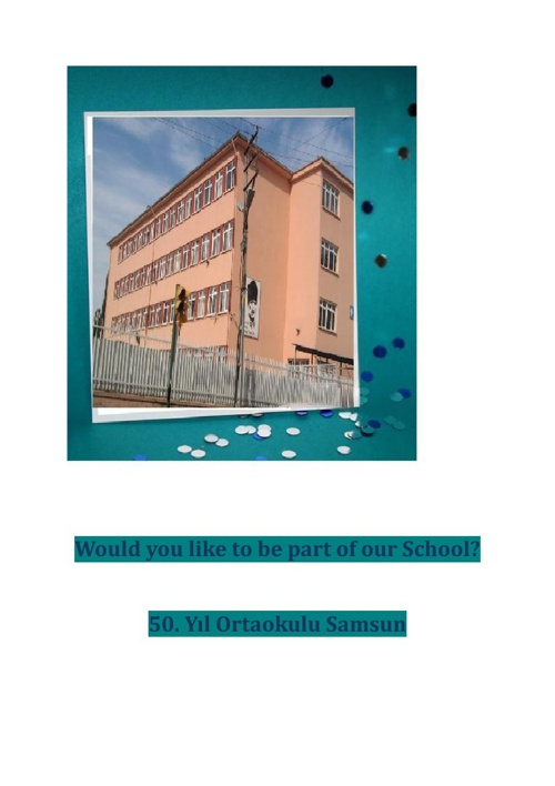 A leaflet to promote our school_Turkey