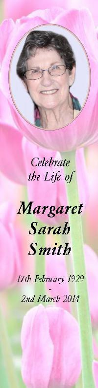 Bookmark for Margaret Smith