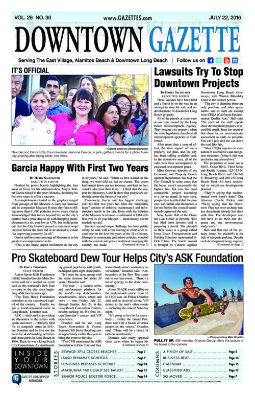 Downtown Gazette     July 22, 2016
