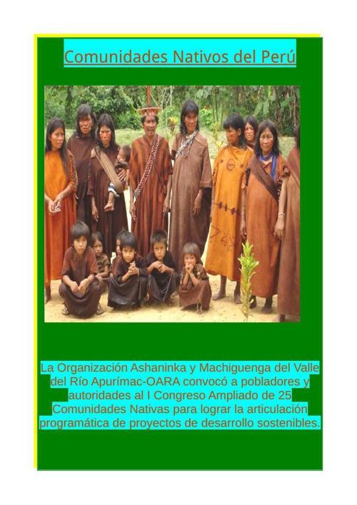 Comunidades nativos de perú
