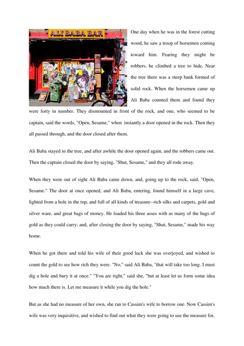 Adventure Story Ali Baba