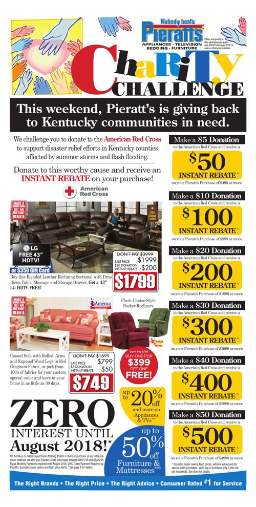 Support the American Red Cross & SAVE This Week at Pieratt's