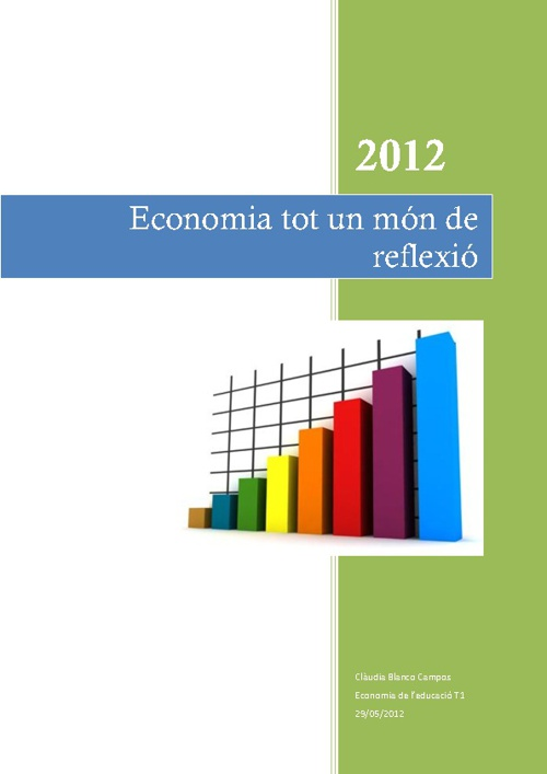 Economia un món de reflexió
