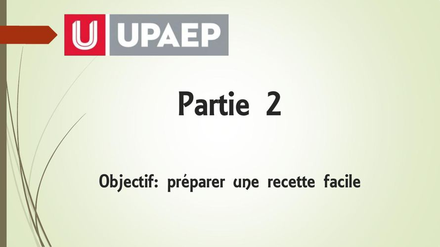 partie 2 Ejemplo de una receta de cocina en francés.