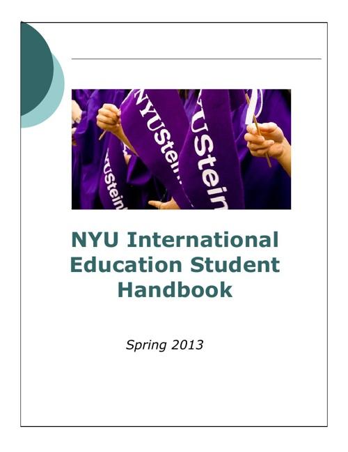 International Education Student Handbook Spring 2013