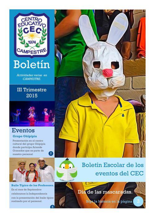 Boletín Escolar CEC 2015