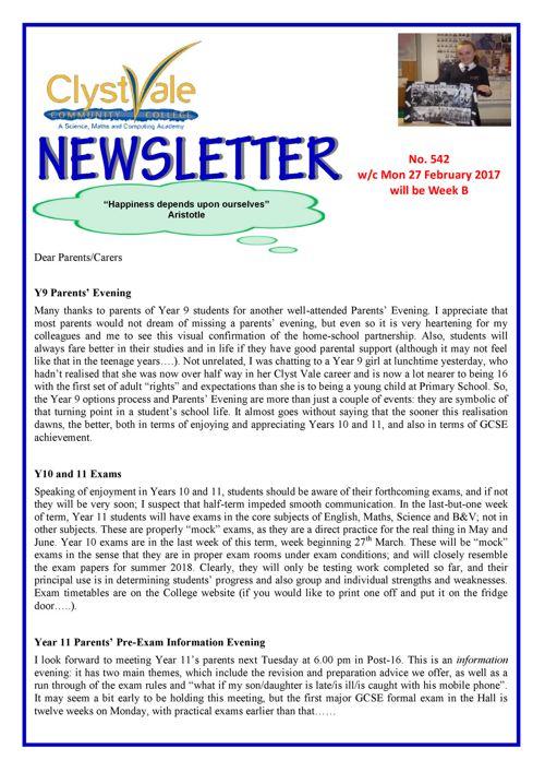 Newsletter 270217
