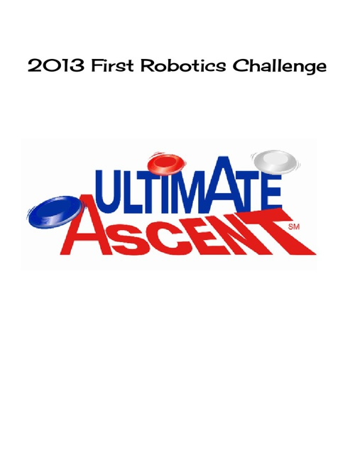 Up a Creek Robotics 2013 Challenge