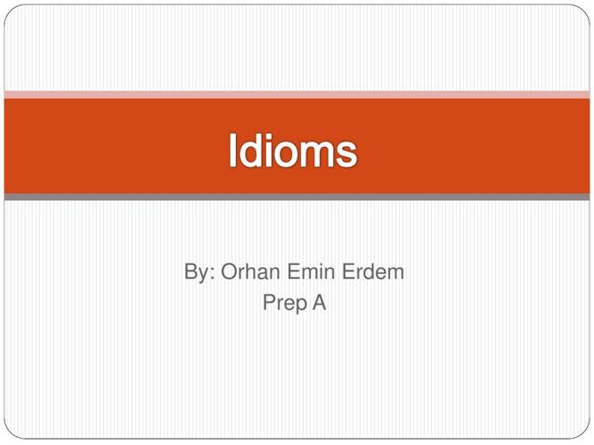 Idioms SPRE