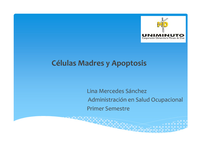 Celulas Madres y Apoptosis
