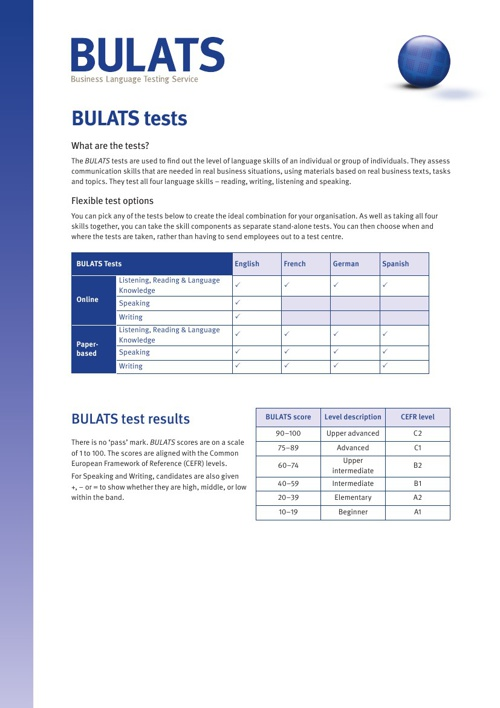 BULATS - The Tests