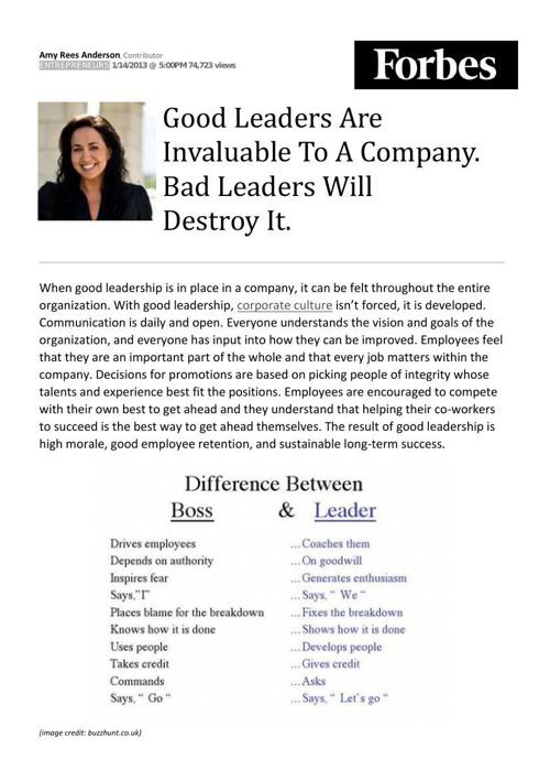 Article re Leadership