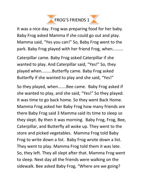 Frogs Friends