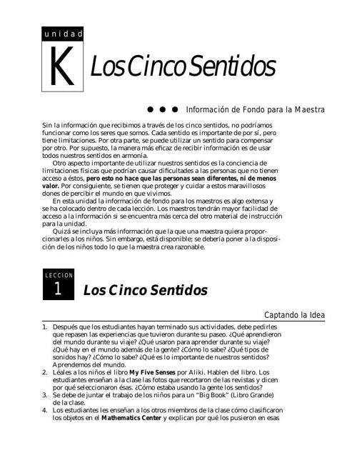 Copy of Los 5 sentidos..