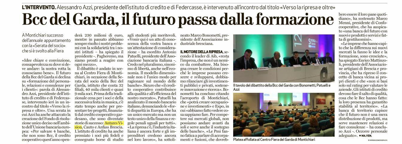 BCC del Garda: il futuro passa dalla formazione