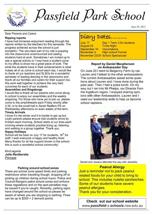 Passfield Park School newsletter