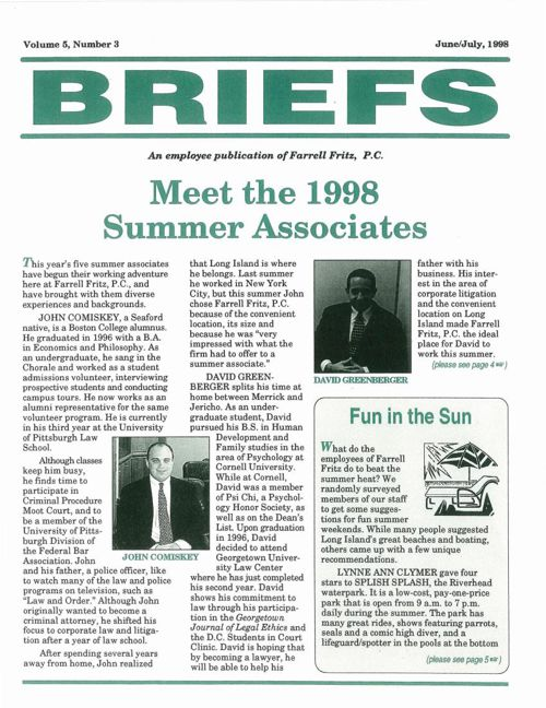 FF Briefs June July 1998