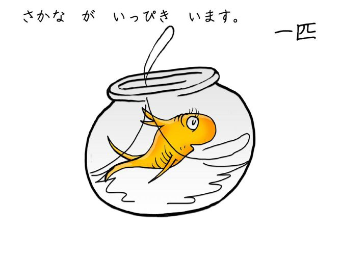 Counting fish in Japanese