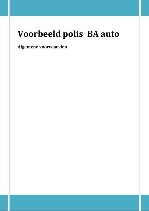 Polis (algemene voorwaarden)
