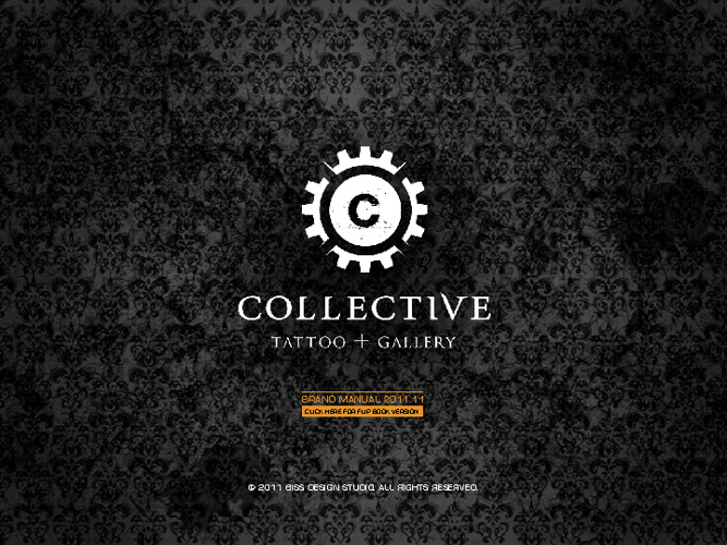 collective tattoo + gallery 2011 brand manual