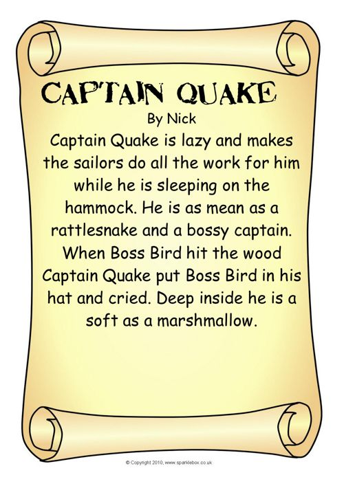 Captain Quake Descriptions Book 2