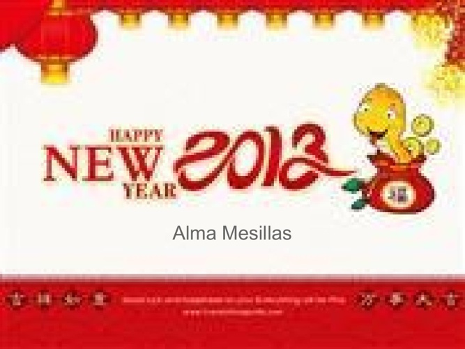 Chinese New Year- Alma