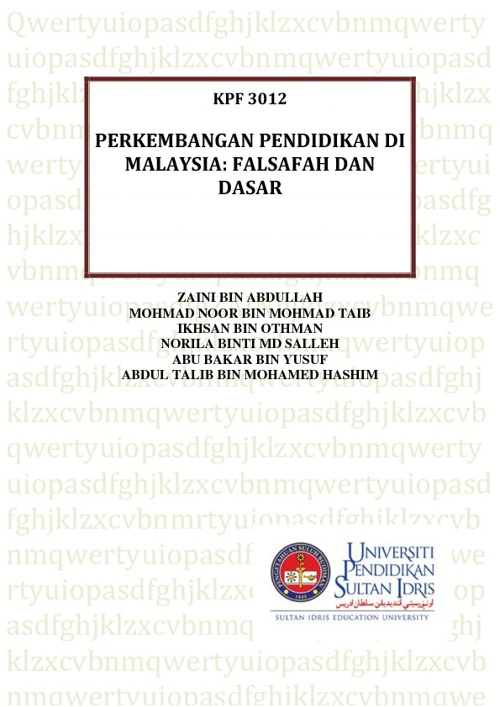 PERKEMBANGAN PENDIDIKAN DI MALAYSIA : DASAR DAN FALSAFAH