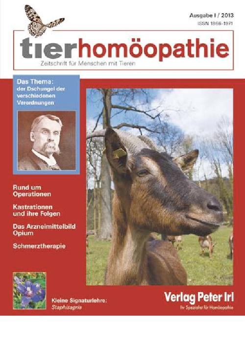 tierhomöopathie I 2013 Heftvorschau
