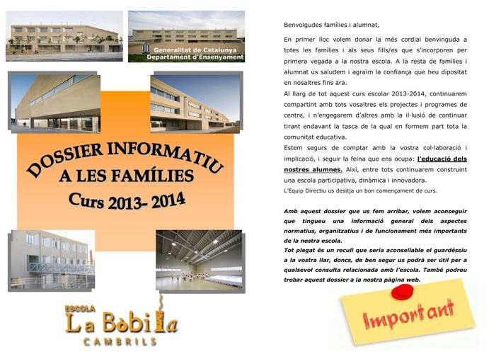 Dossier 2013-2014