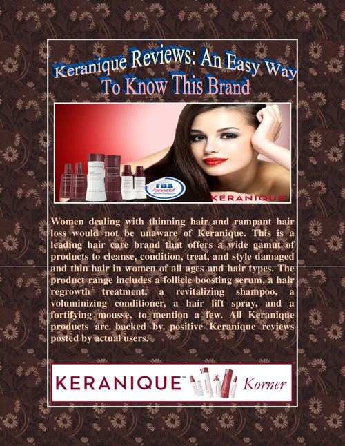 Keranique Reviews An Easy Way To Know This Brand