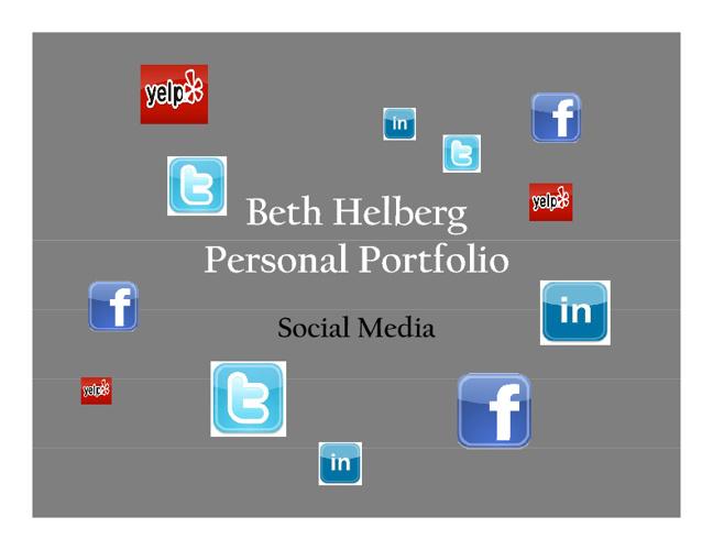 Social Media Portfolio - Beth Helberg
