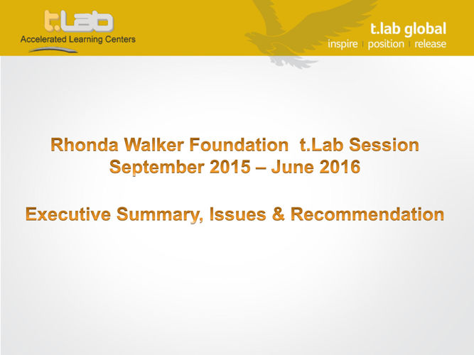 t.Lab RWF_Active Students-Executive Summary Q2-2016
