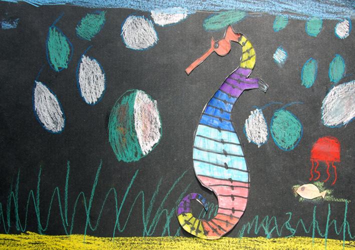 Fiskebog tegnet af 1.a, Vadum skole.