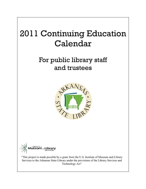 2011 Continuing Education Calendar