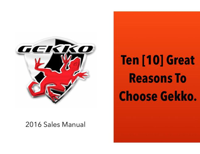 2016 10 Great Reasons To Choose Gekko