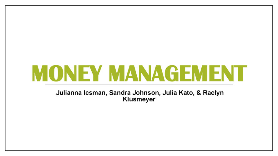 Money Management Group Powerpoint
