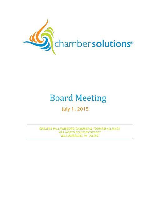 Board Packet July1, 2015