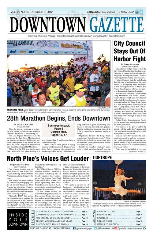Downtown Gazette  |  October 5, 2012