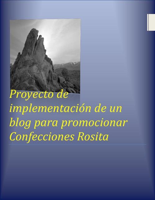Proyecto Confecciones Rosita