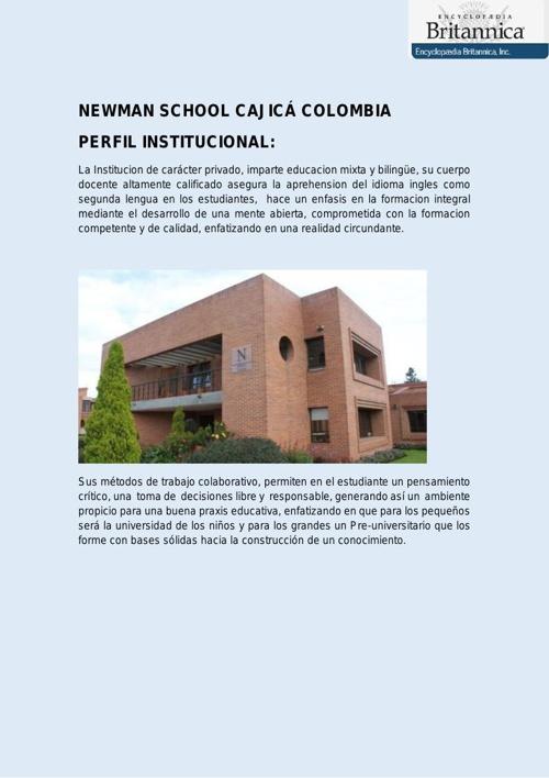 NEWMAN SCHOOL CAJICÁ COLOMBIA OK